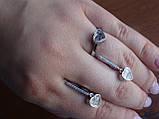 Серебряные дизайнерские серьги в стиле Сartie(Картье), фото 5