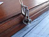 Серебряные дизайнерские серьги в стиле Сartie(Картье), фото 8