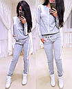 Женский спортивный костюм с лампасами и молнией на кофте 74spt640, фото 4
