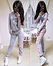 Женский спортивный костюм с лампасами и молнией на кофте 74spt640, фото 6