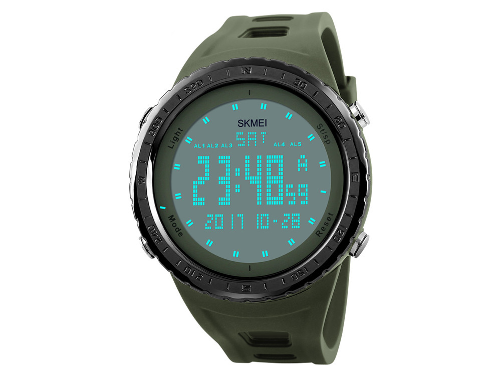 Водонепроницаемые спортивные мужские часы Skmei  Зеленый