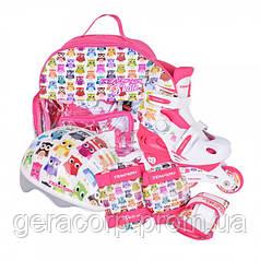 Детские раздвижные роликовые коньки Tempish Owl Baby skate (комплект)   34-37
