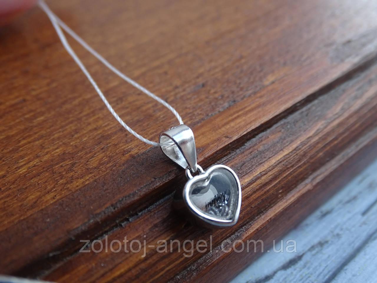 """Серебряная подвеска """"Сердце"""""""