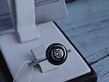 Кольцо серебряное с темным камнем(керамика), фото 2