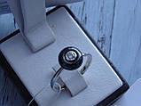 Кольцо серебряное с темным камнем(керамика), фото 3