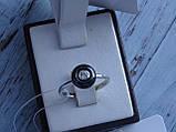 Кольцо серебряное с темным камнем(керамика), фото 4