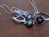 Кольцо серебряное с темным камнем(керамика), фото 8
