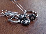Кольцо серебряное с темным камнем(керамика), фото 9