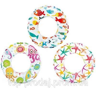 59230 Круг 51см 3цв., Надувной круг, Круг для плавания, Детский надувной круг, Круг для ребенка