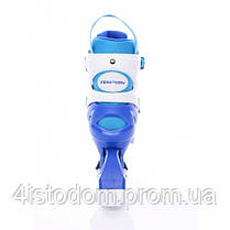 Детские раздвижные роликовые коньки Tempish Swist Flash синие (светящиеся колеса)  26-29, фото 3