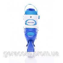 Детские раздвижные роликовые коньки Tempish Swist Flash синие (светящиеся колеса)  30-33, фото 3