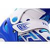 Детские раздвижные роликовые коньки Tempish Swist Flash синие (светящиеся колеса)  30-33, фото 6