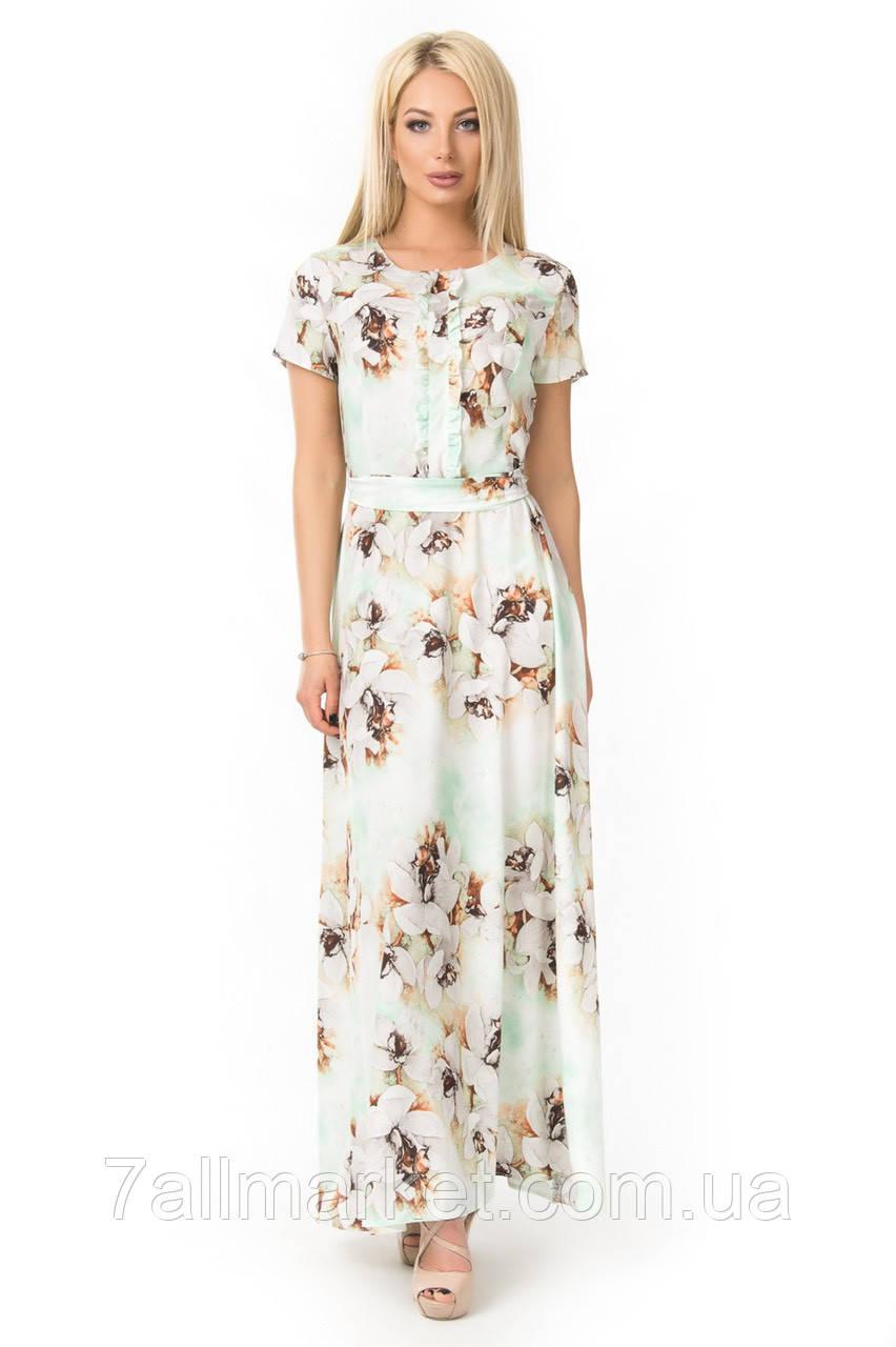 dcc1d4cf14c ... Платье женское длинное с цветочным принтом
