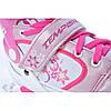 Детские раздвижные роликовые коньки Tempish Swist Flash розовые (светящиеся колеса)  , фото 3