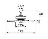 Потолочный вентилятор CASA FAN ROYAL 75 cm, фото 2