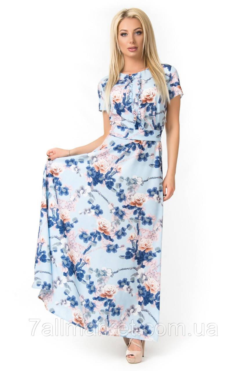 e56e1e23505 Платье женское длинное с цветочным принтом
