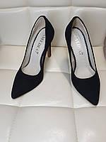 Туфли женские на шпильке из натуральной замши 1731/6