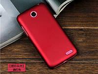 Чехол накладка бампер для Lenovo A516 бордовый