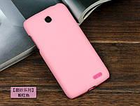 Чехол накладка бампер для Lenovo A516 розовый
