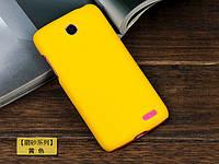 Чехол накладка бампер для Lenovo A516 жёлтый