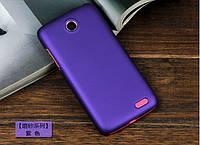 Чехол накладка бампер для Lenovo A516 фиолетовый