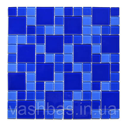 Aquaviva Мозаика стеклянная Aquaviva Cristall Dark Blue DCM305 (23 мм - 48 мм)