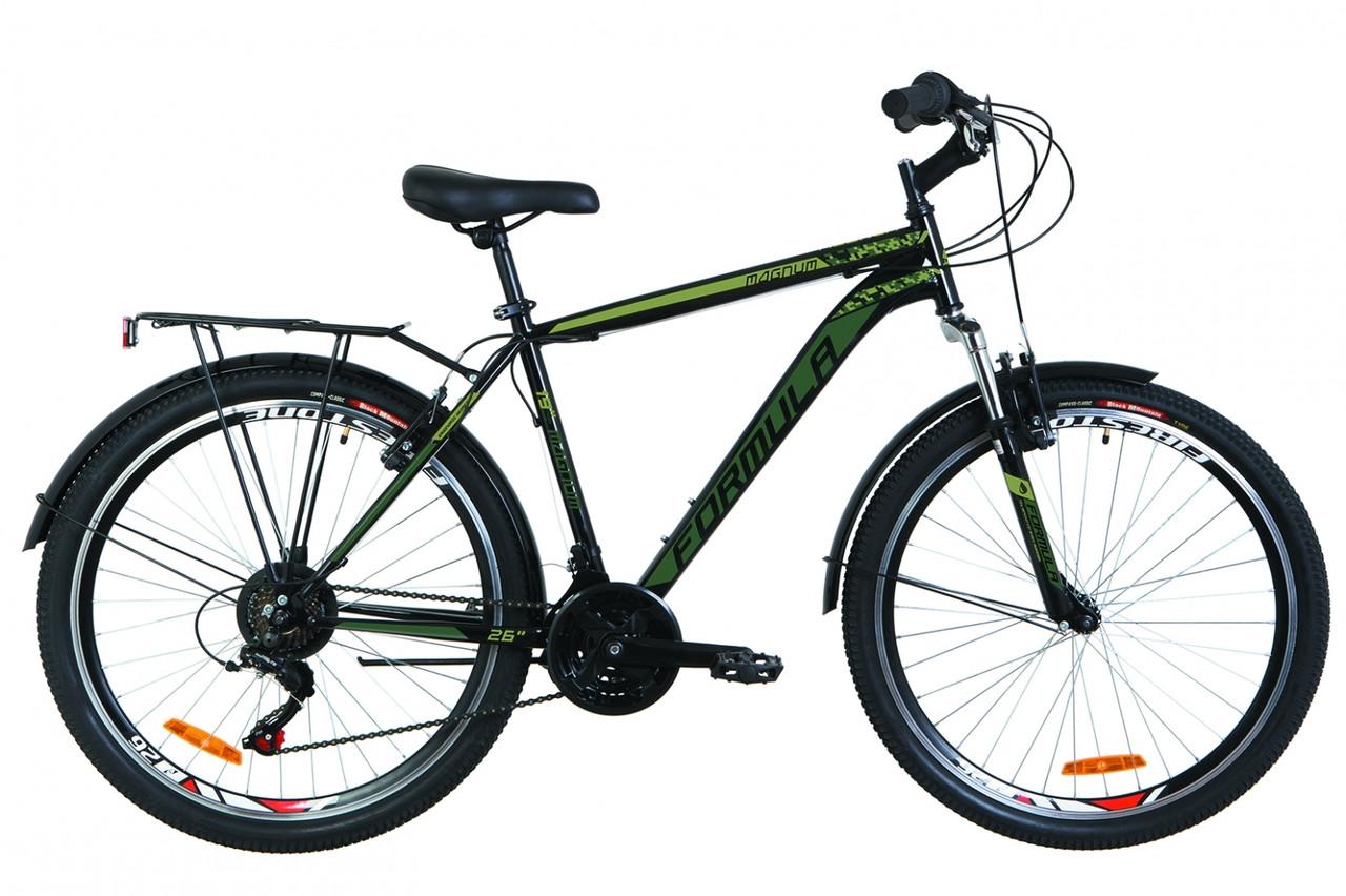"""Городской дорожный велосипед 26"""" Formula MAGNUM AM 14G Vbr St 2019 (черный (м))"""
