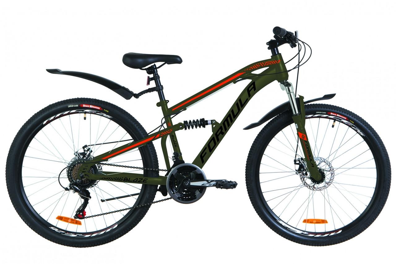 """Горный велосипед 26"""" Formula BLAZE AM2 14G DD St с крылом Pl 2019 (камуфляж (м))"""