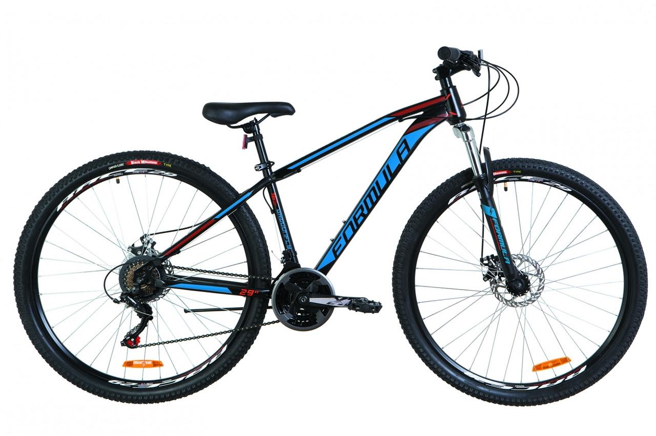 """Горный велосипед 29"""" Formula DRAGONFLY AM 14G DD St 2019 (черно-красный с синим)"""
