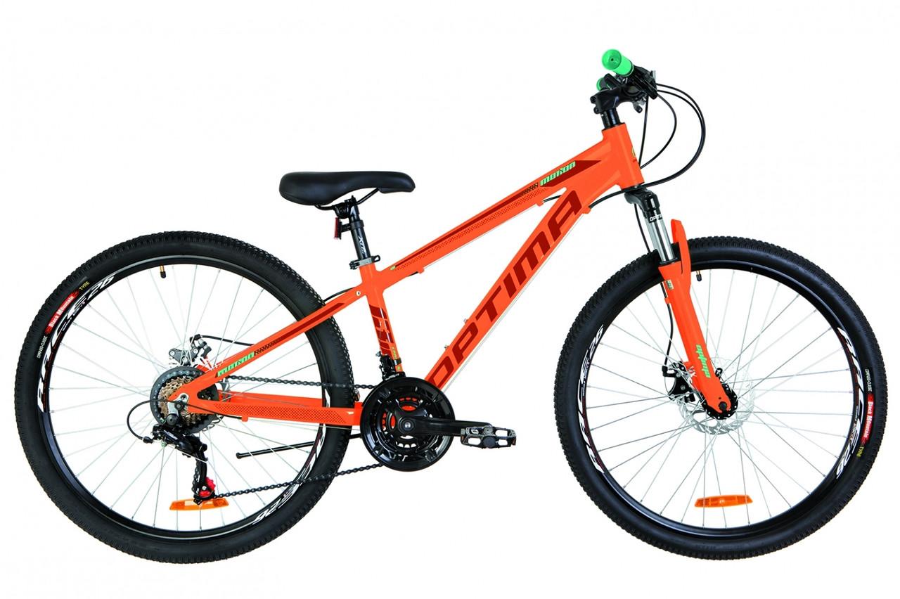"""Горный велосипед 26"""" Optimabikes MOTION DD 2019 (оранжевый )"""