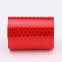 Самоклеющаяся светоотражающая лента 5 х 100 см Red 89JHJ, КОД: 366901