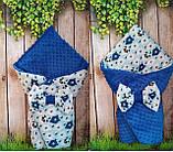Двосторонній конверт-ковдру плюшевий зі знімним утеплювачем весна-літо-осінь, фото 3