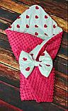 Двосторонній конверт-ковдру плюшевий зі знімним утеплювачем весна-літо-осінь, фото 8