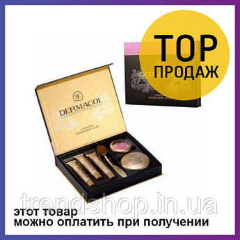Набор Dermacol Make-up set тональный крем пудра румяна / Тоналка Макс Фактор