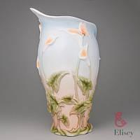 """Фарфоровая ваза Veronese """"Бабочка в каллах"""" (32 см)"""