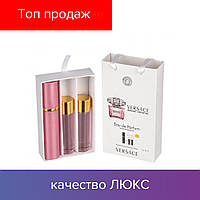 45 ml ( 3x15 ) Versace Bright Crystal. Eau de Parfume | Женские духи с феромонами, мини набор, парфюмы
