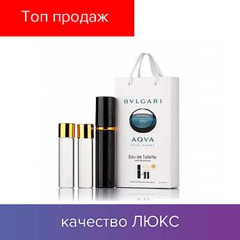 45 ml ( 3x15 ) Bvlgari Aqva Pour Homme. Eau de Parfume | Женские духи с феромонами, мини набор, парфюмы