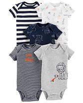 Боди с коротким рукавом для новорожденных мальчиков 6-9-12-18-24 мес. Львенок Carter's (США)
