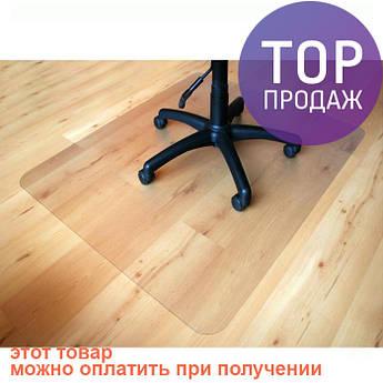 Ультратонкий защитный коврик под кресло 100х200 см, 2 мм / Коврик под стул полупрозрачный Шагрень