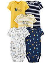 Боди с коротким рукавом для новорожденных мальчиков 6-9-12-18-24 мес. Монстрик Carter's (США)