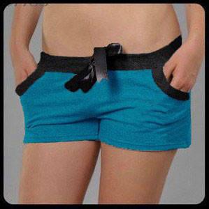 "Шорты ""Little shorts"" - трикотаж. Распродажа голубой, 40"