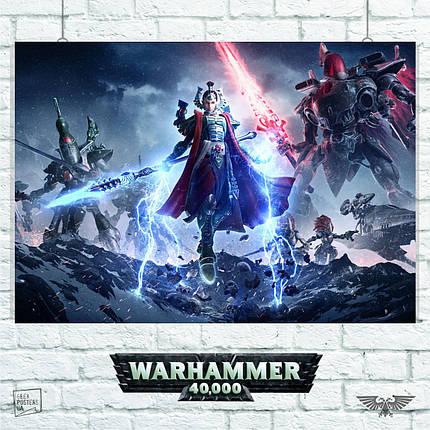 Постер Warhammer 40000, Dawn of War 3. Размер 60x42см (A2). Глянцевая бумага, фото 2