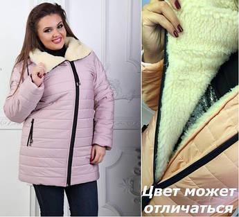 """Зимняя куртка """"Polaris"""" 48, пудровый"""