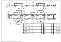 Цепь CA624. 38.4VB для наклонного транспортера