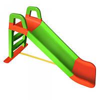 Детская горка для малышей зелено-оранжевая, сборная, 0140 04