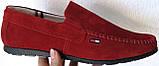 Style! Tommy Hilfiger! Мужские в стиле Томми Хилфигер красные замшевые мокасины, фото 5