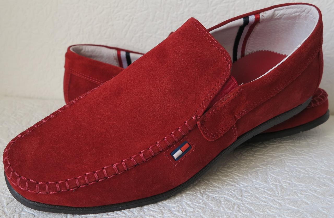 Style! Tommy Hilfiger! Мужские в стиле Томми Хилфигер красные замшевые мокасины