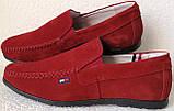 Style! Tommy Hilfiger! Мужские в стиле Томми Хилфигер красные замшевые мокасины, фото 4