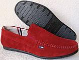 Style! Tommy Hilfiger! Мужские в стиле Томми Хилфигер красные замшевые мокасины, фото 7