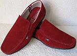 Style! Tommy Hilfiger! Мужские в стиле Томми Хилфигер красные замшевые мокасины, фото 8